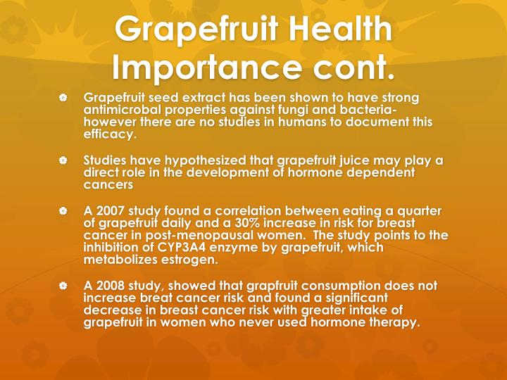 Grapefruit Health Importance cont.