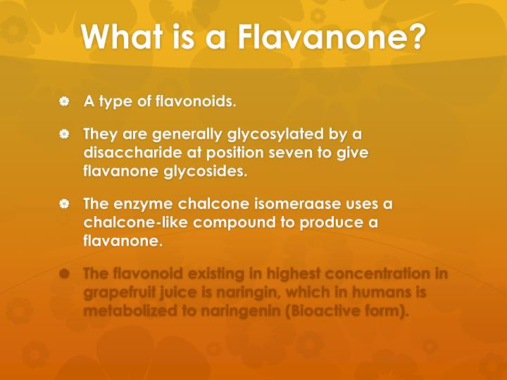 What is a flavanone