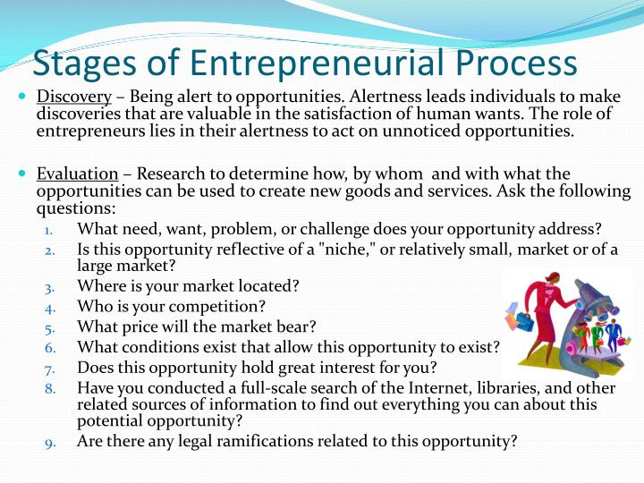 intrapreneurial process This process is called the entrepreneurial process  this is the same process that brings into being both great and small businesses in the game of entrepreneurship, the process is more important than the goal.