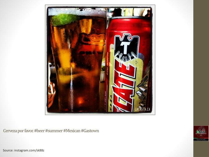 Cerveza por favor. #