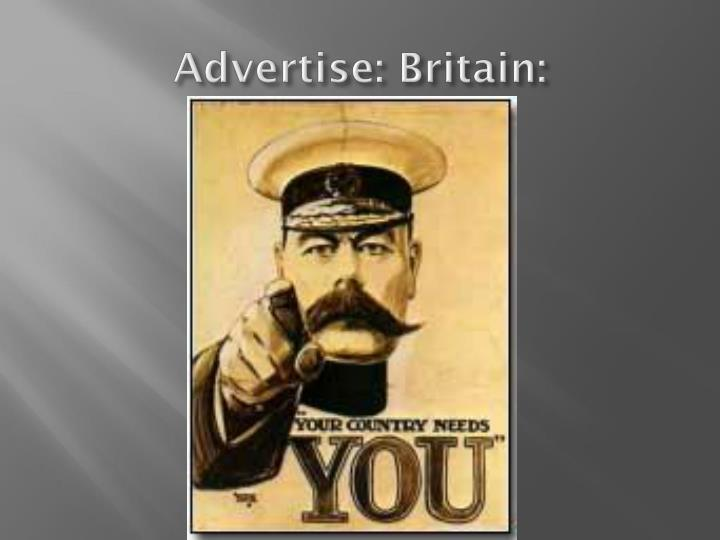 Advertise: Britain: