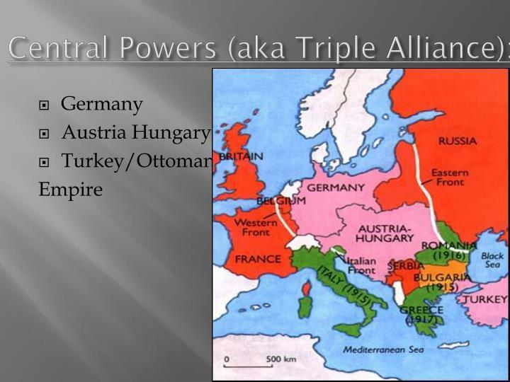 Central Powers (aka Triple Alliance):