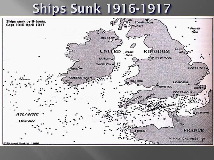 Ships Sunk 1916-1917
