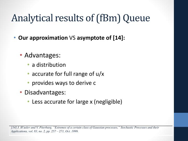 Analytical results of