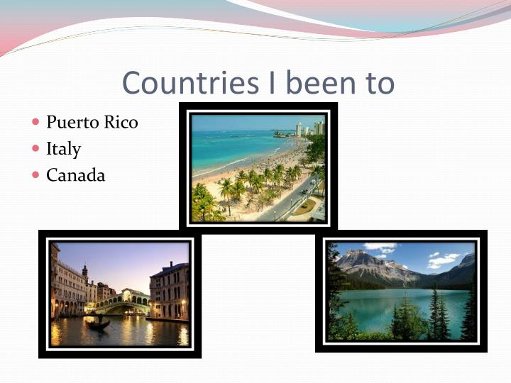 Countries I been to