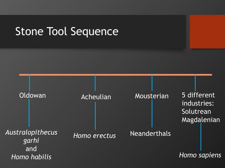 Stone tool sequence