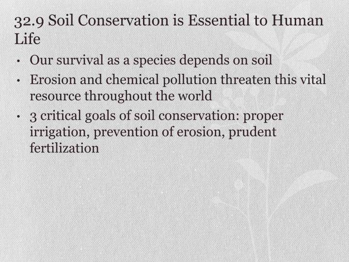 32.9 Soil Conservation is Essential to Human Life
