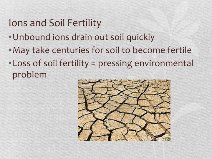 Ions and Soil Fertility
