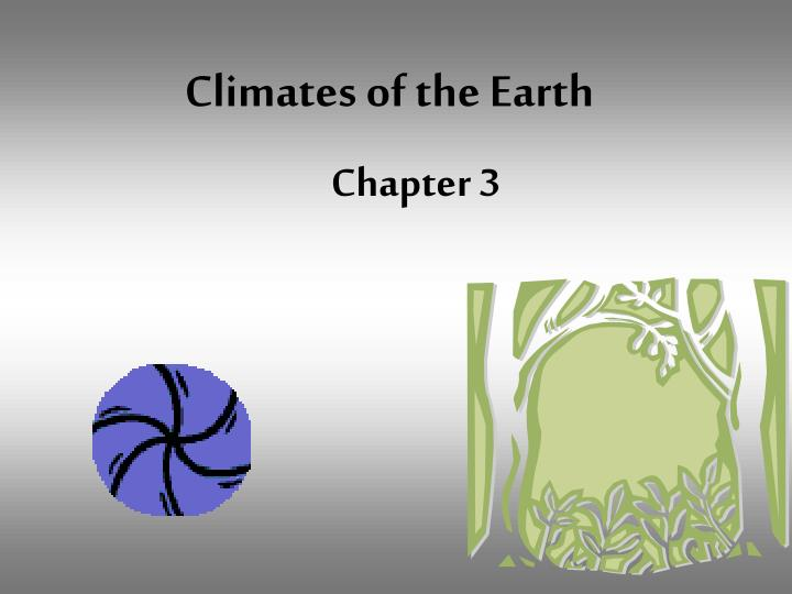 climates of the earth n.