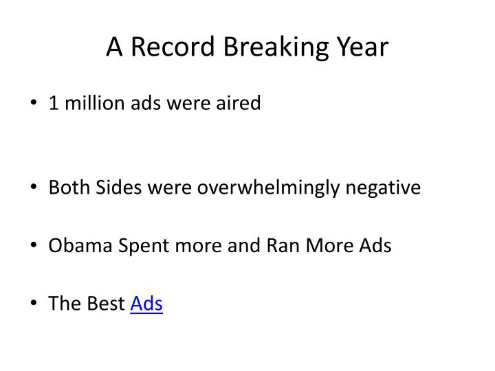 A Record Breaking Year