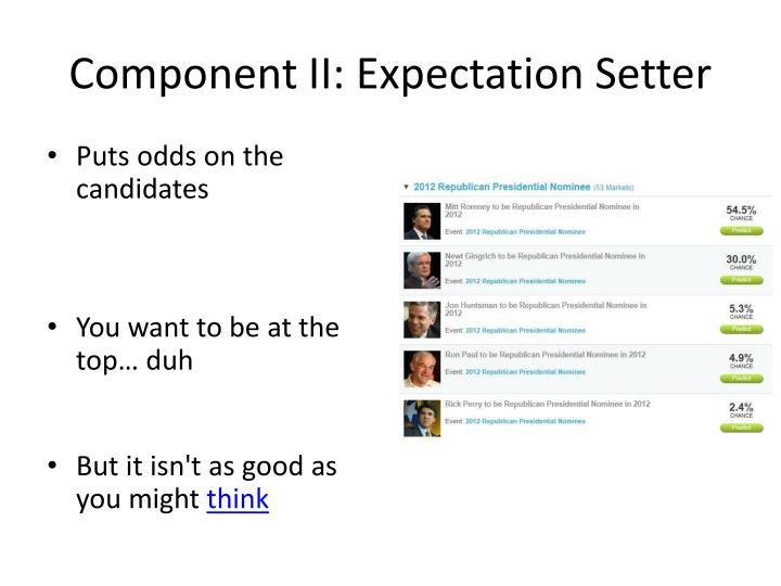 Component II: Expectation Setter