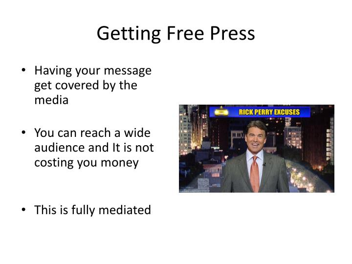Getting Free Press