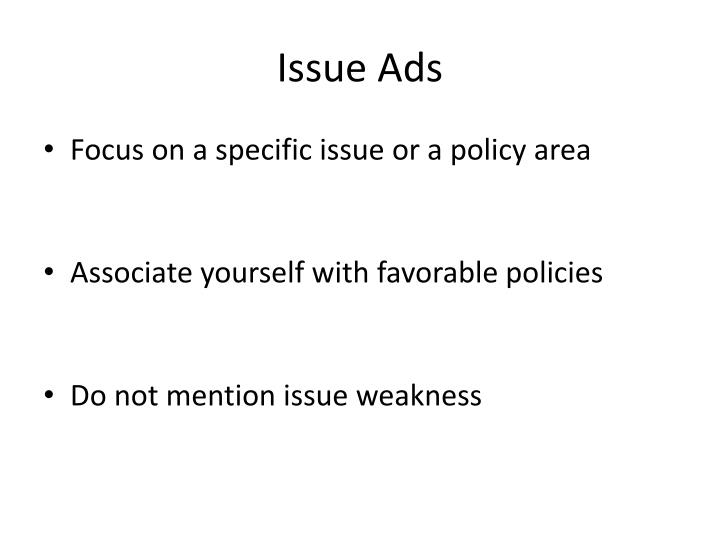 Issue Ads