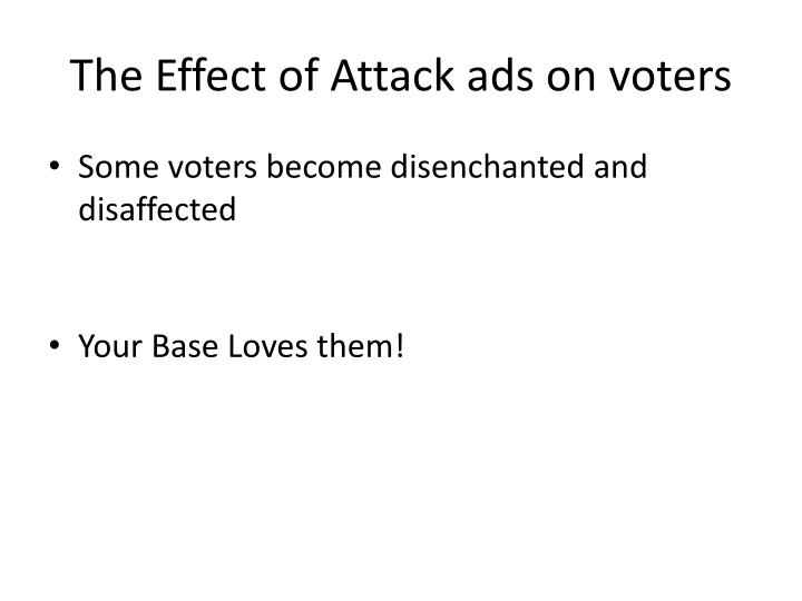 The Effect of Attack ads on voters