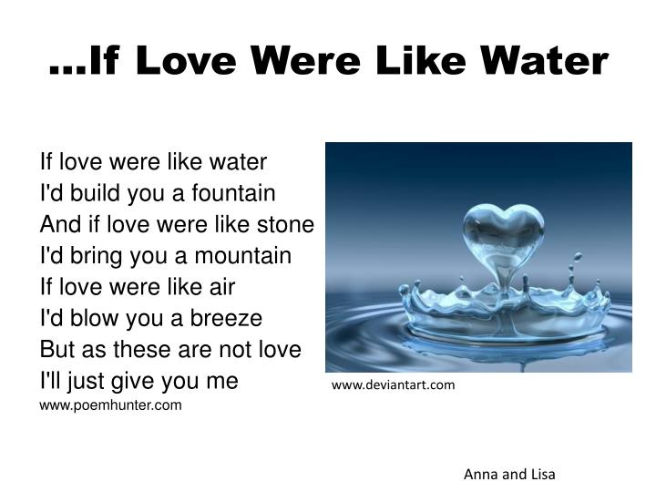 if love were like water n.