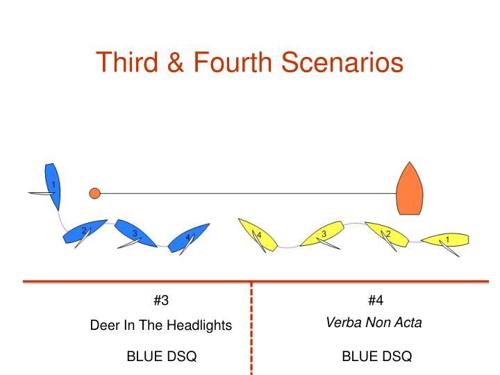 Third & Fourth Scenarios
