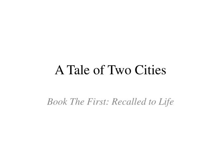 a tale of two cities n.
