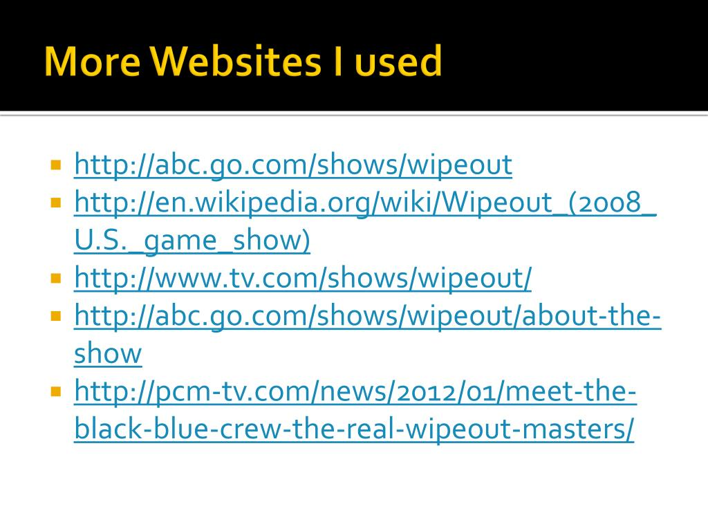 PPT - Wipeout PowerPoint Presentation - ID:2304586