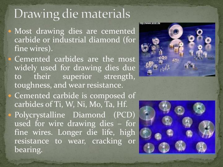Drawing die materials