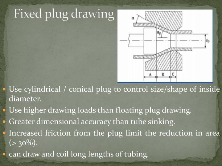 Fixed plug drawing