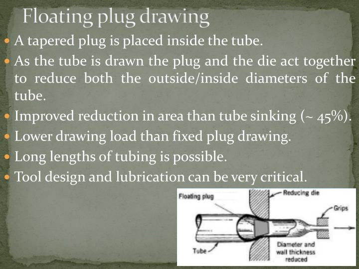 Floating plug drawing