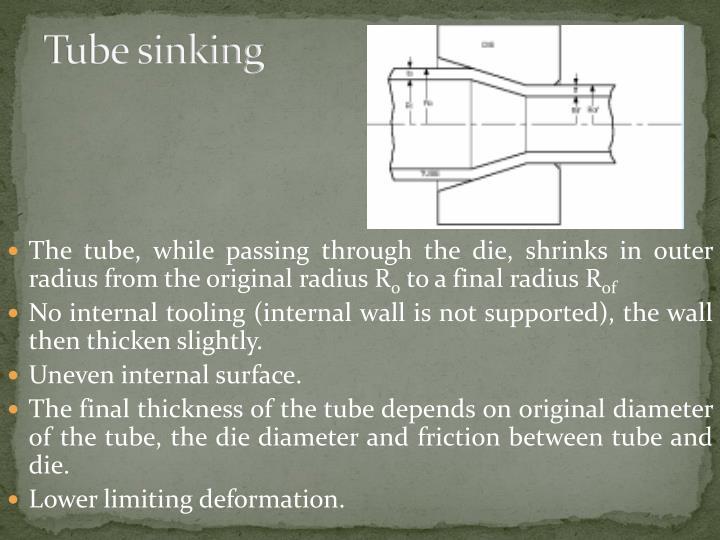 Tube sinking