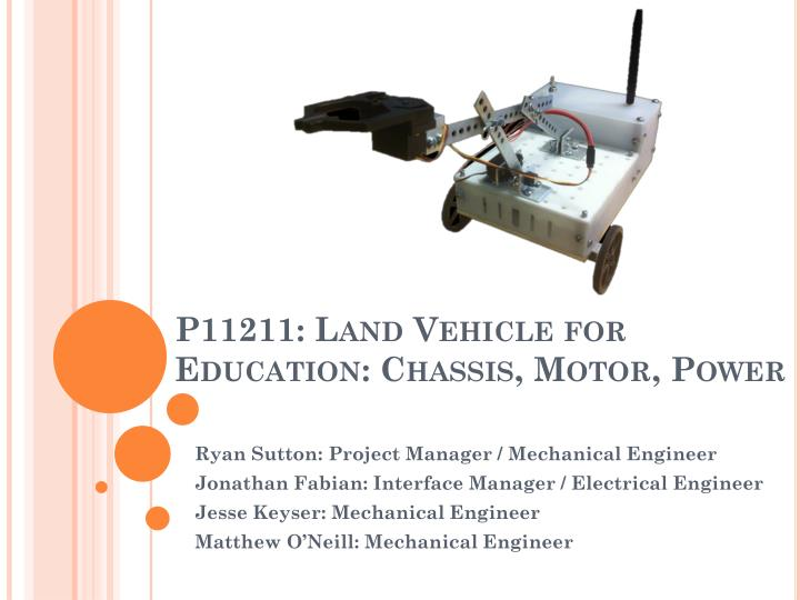 p11211 land vehicle for education chassis motor power n.