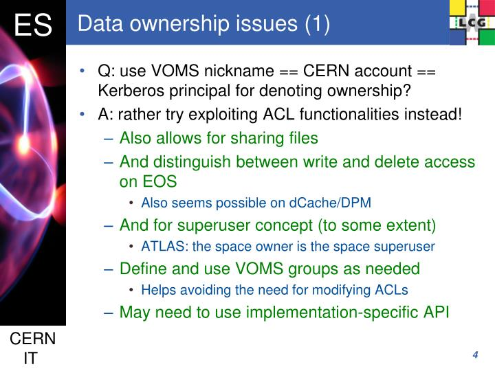 Data ownership issues (1)