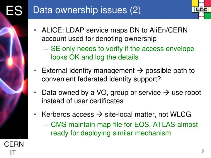 Data ownership issues (2)