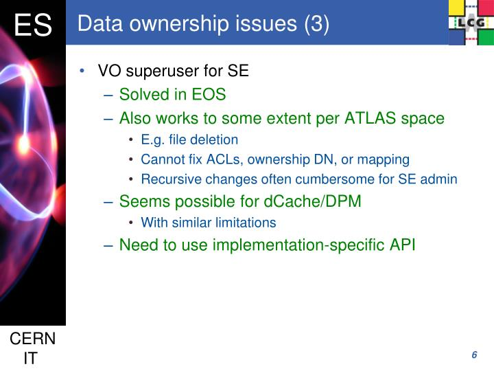 Data ownership issues (3)