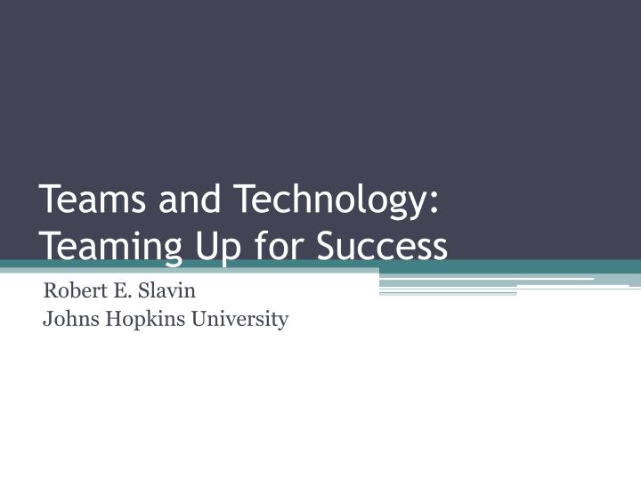 teams and technology teaming up for success n.