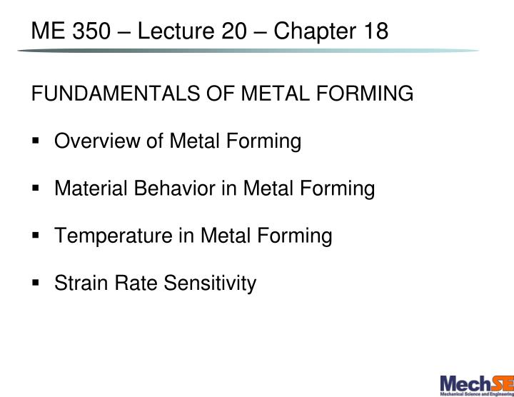 me 350 lecture 20 chapter 18 n.