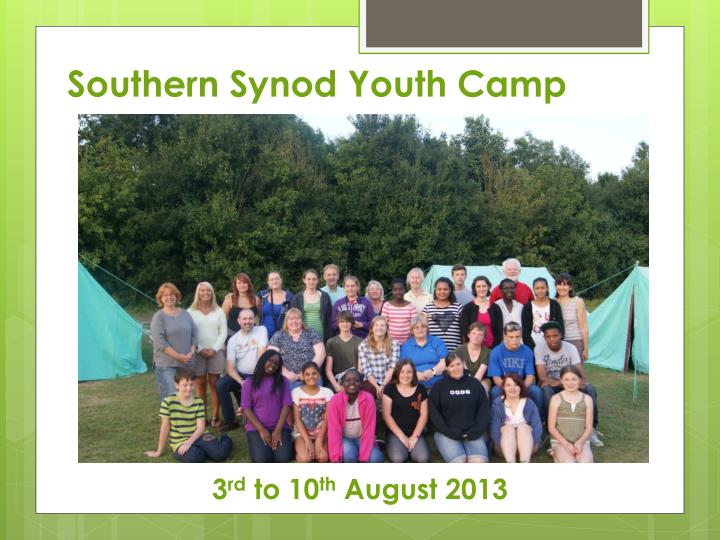 southern synod youth camp n.