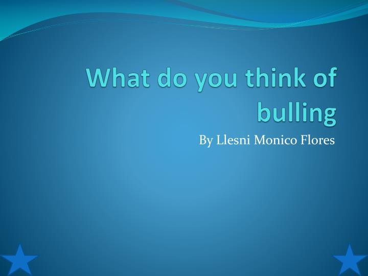what do you think of bulling n.