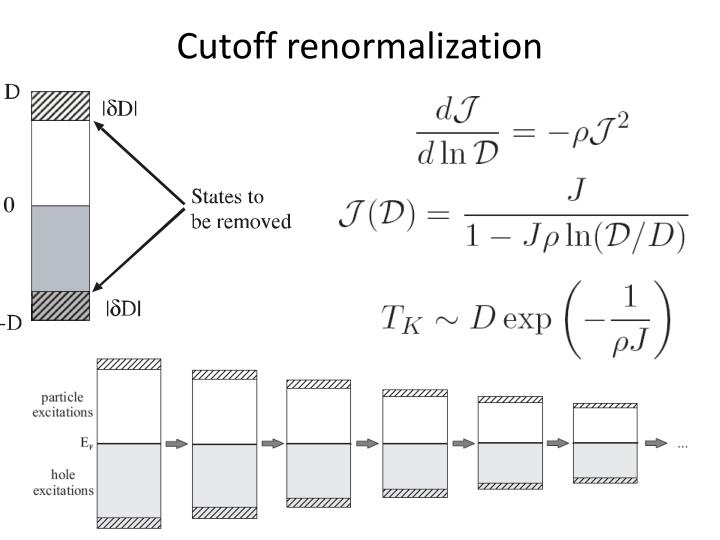 Cutoff renormalization