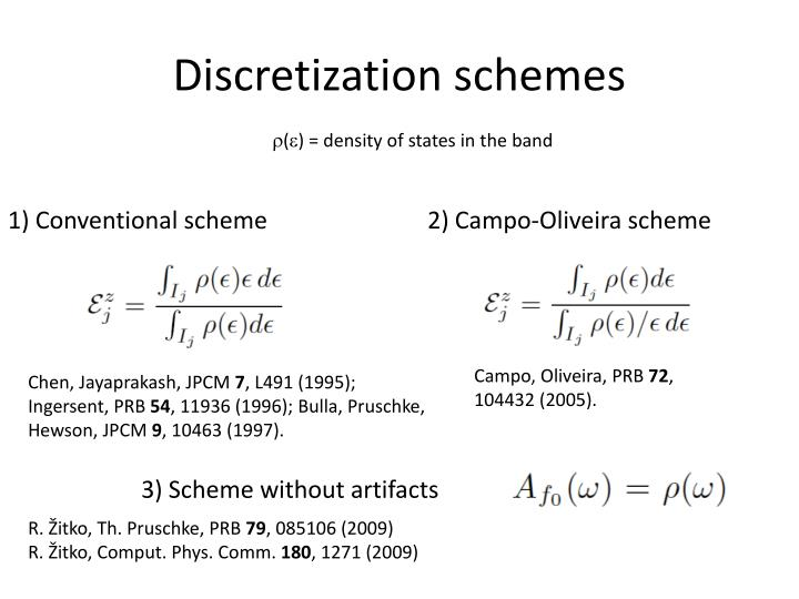 Discretization schemes