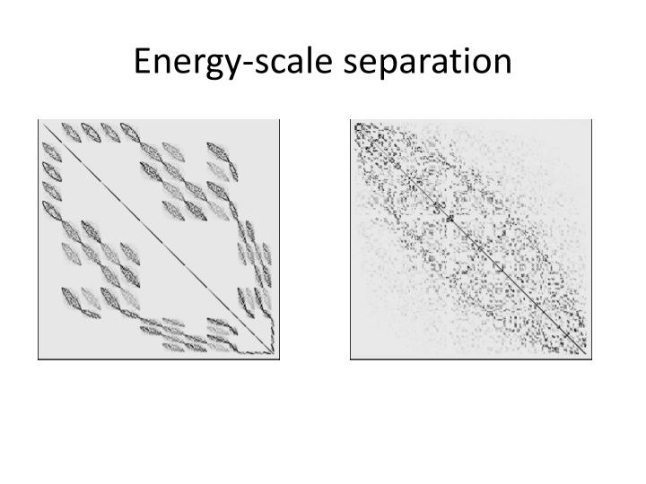 Energy-scale separation