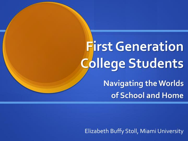 first generation college students n.