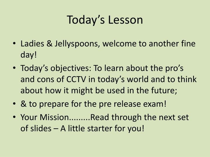 today s lesson n.
