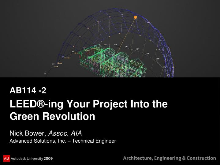 ab114 2 leed ing your project into the green revolution n.