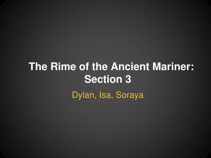 the rime of the ancient mariner section 3 n.