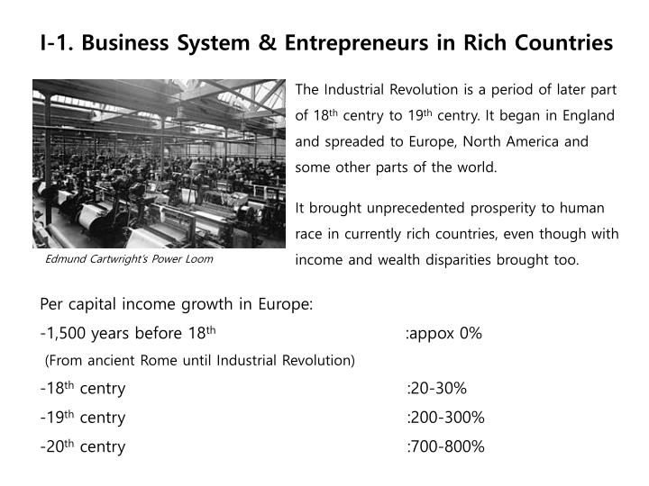I-1. Business System & Entrepreneurs in Rich Countries