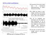 10 hz orbit oscillation
