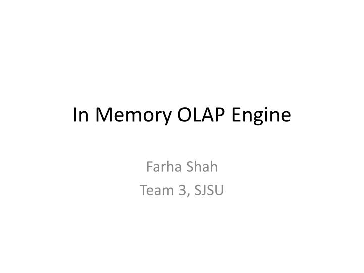 in memory olap engine n.