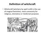 definition of witchcraft