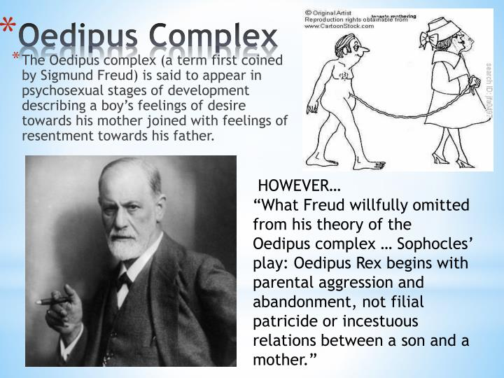 sigmund freud on oedipus The oedipus conflict or complex is a concept developed by sigmund freud to explain the origin of certain psychological disorders in childhood it is defined as a child's unconscious desire for the exclusive love of the parent of the opposite sex.