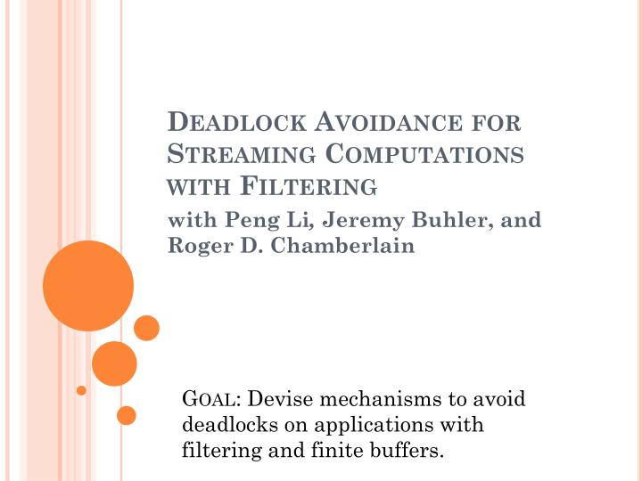 Deadlock Avoidance for Streaming Computations with Filtering