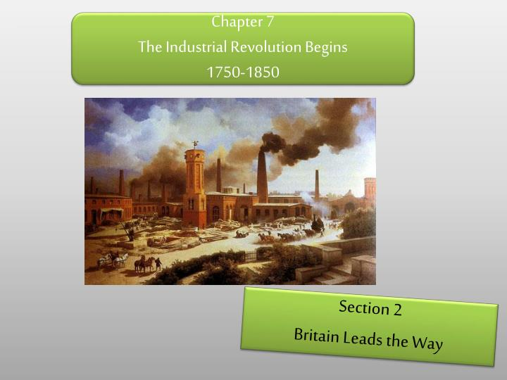 the beginning of the industrial revolution In both the first industrial revolution and today's, the first effects were in manufacturing in the developed world by substituting technology for workers, us manufacturing productivity.