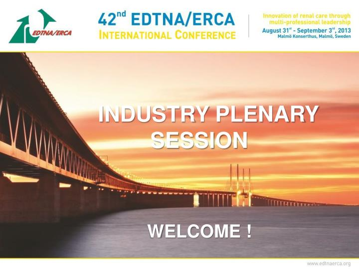industry plenary session n.