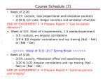 course schedule 3